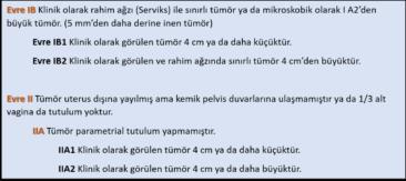 Evre IA2 ve Evre IB / IIA1 Rahim Ağzı Kanseri Hastalarında Tedavi