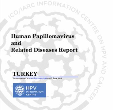 Haziran 2019 Türkiye'de HPV ve HPV ile ilişkili Hastalıklar Raporu